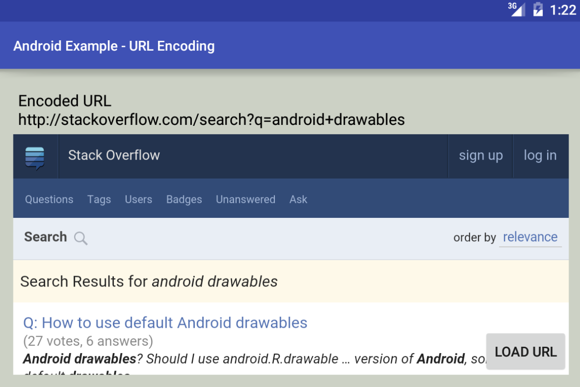 android - How to encode a URL