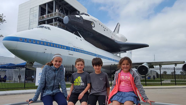 Kids after Space Center Houston