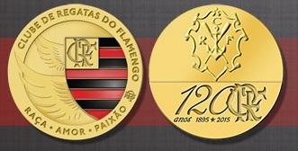 79bc2c10ff AFNB - Boletim Virtual  Flamengo - Medalha comemorativa pelos 120 Anos