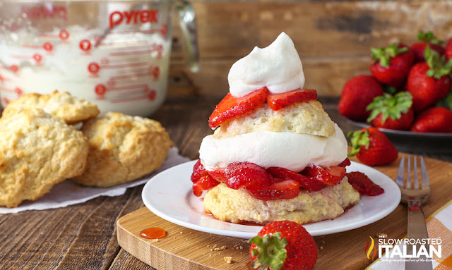 Southern Style Strawberry Shortcake close up