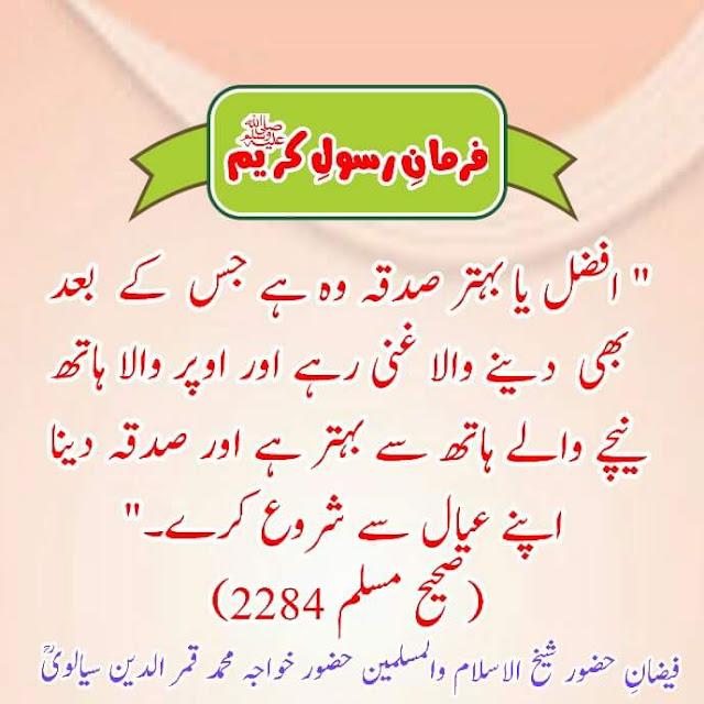 Hadith Sadqa Dena In Islam