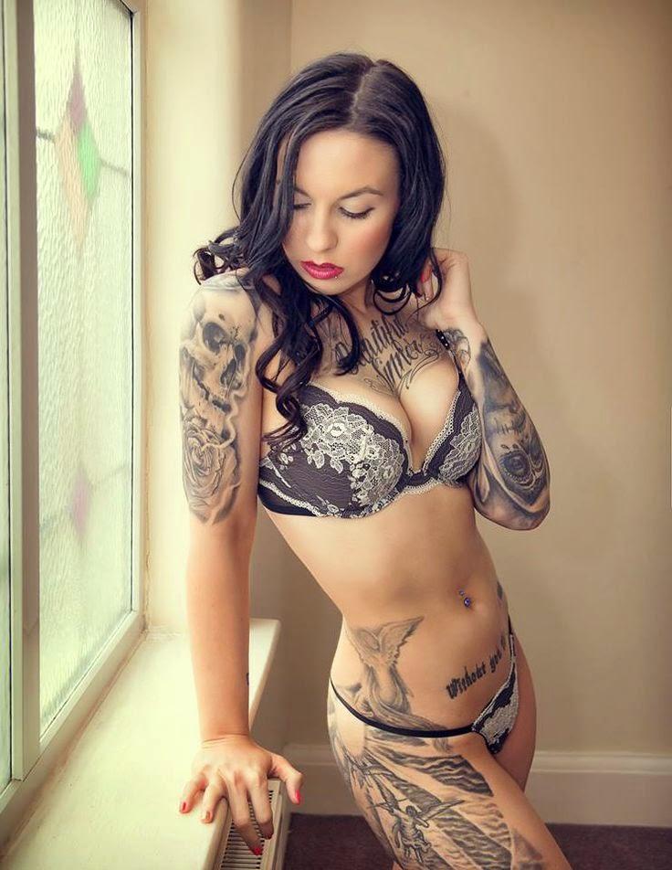 Hot naked tattooed women