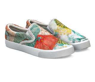 "canvas shoes ""Life at sea"" by Mimi Pinto from Bucketfeet"