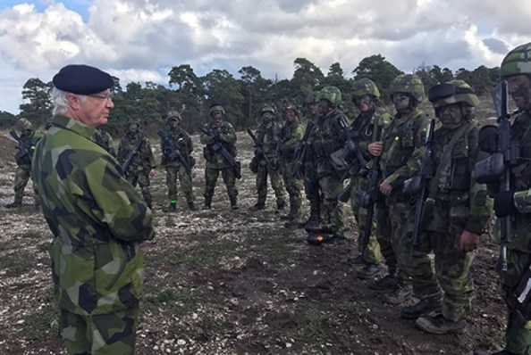 King Carl XVI Gustaf and Prince Carl Philip participate in major military exercise on Gotland