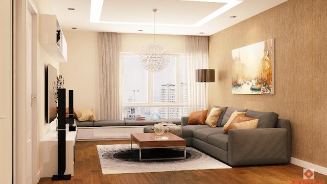 Phòng khách chung cư Imperial Plaza
