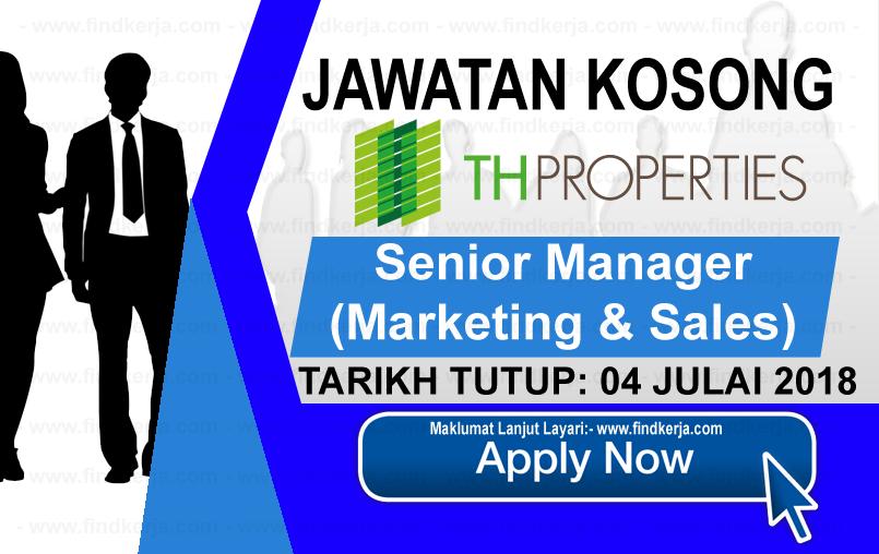 Jawatan Kerja Kosong TH Properties Sdn Bhd logo www.ohjob.info www.findkerja.com julai 2018