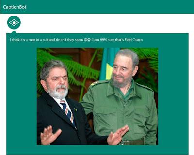 Eu acho que é um homem de terno e gravata e eles parecem 'indiferente' e 'contente'. Eu tenho 99% de certeza que seja Fidel Castro.
