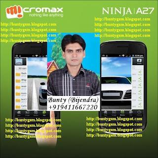 Micromax Ninja A27 Flash File & Tool By BuntyGSM Mobile