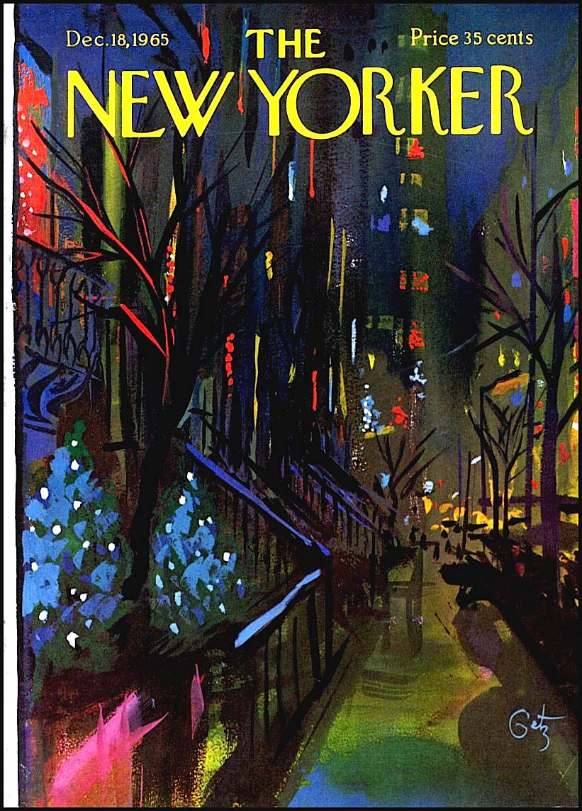 Arthur Getz illustration 1965 for New Yorker