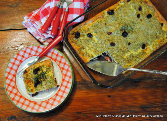 Cranberry Herb Brunch Bake at Miz Helen's Country Cottage