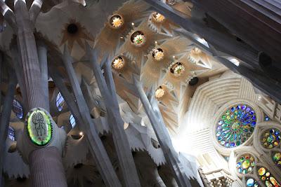 Right aisle of Sagrada Familia Basilica