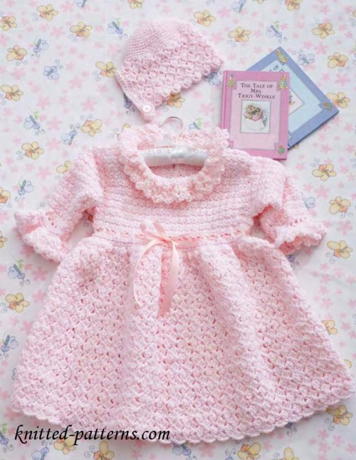 Christening Set (Dress & Bonnet) - Free Pattern