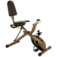 Exerpeutic GOLD 525XLR Folding Recumbent Exercise Bike, review features compared with Exerpeutic GOLD 975XBT