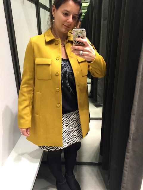 manteau jaune zara