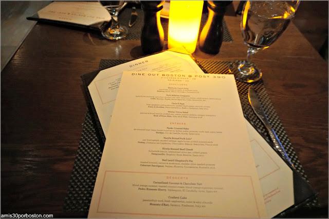 Cartas y Menú de la Dine Out del Restaurante Post 390 en Boston