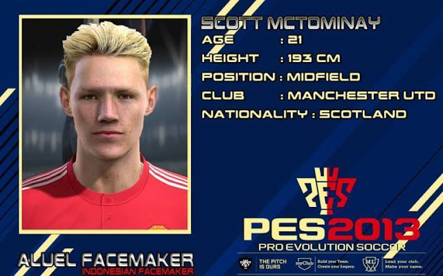 Scott McTominay Face PES 2013