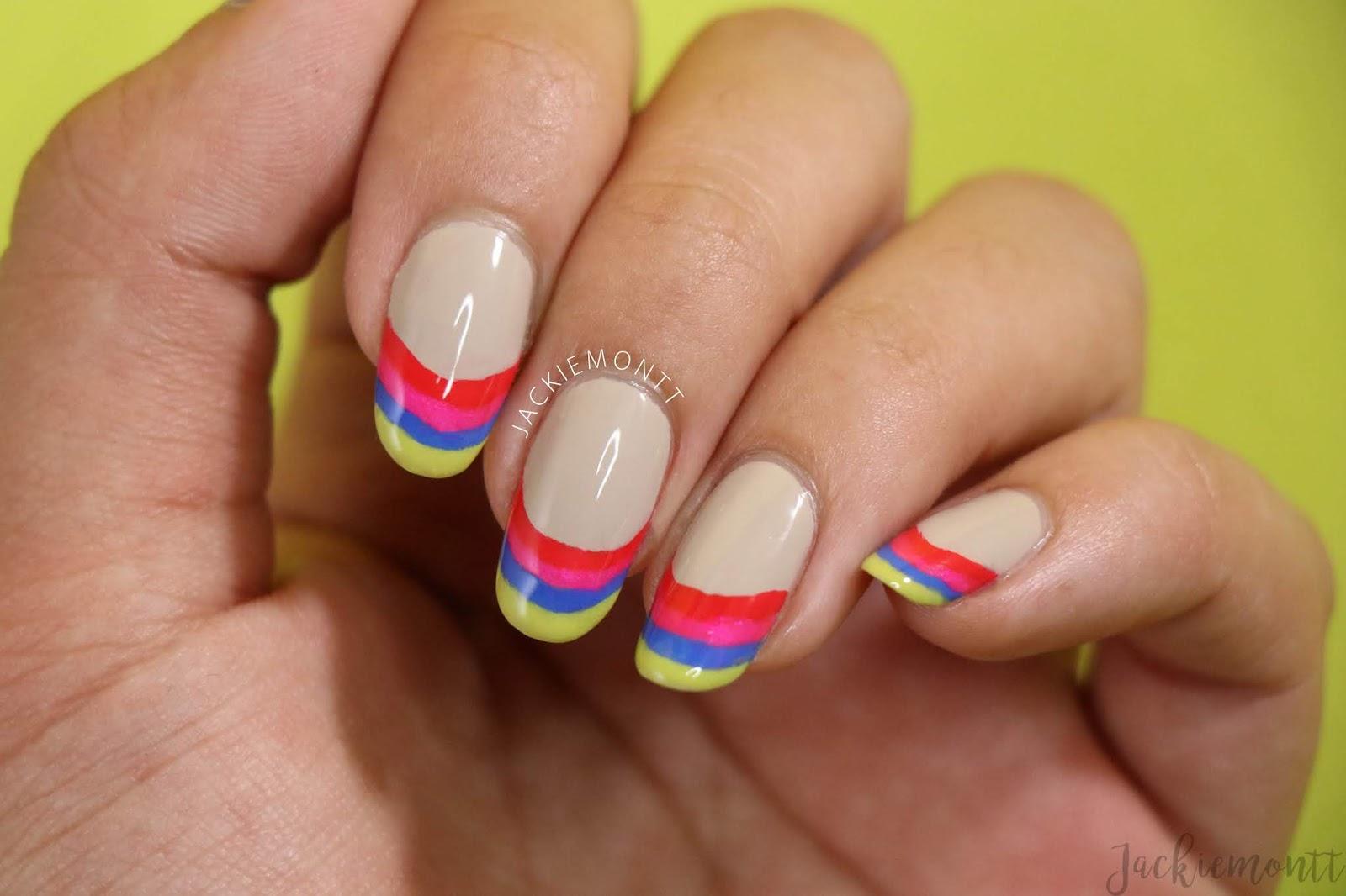Tropical Tips Nail Art Tutorial - JACKIEMONTT