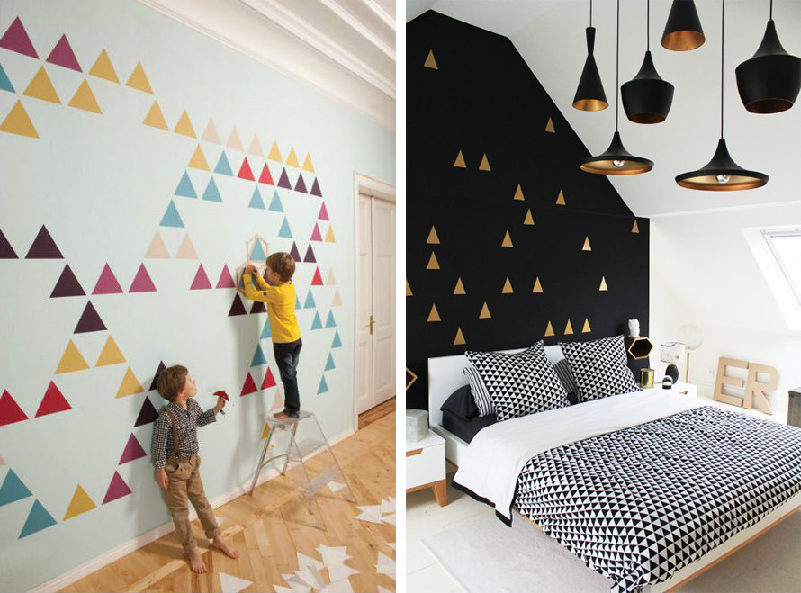 la fabrique d co triangles et d co inspirations g om triques dans la maison. Black Bedroom Furniture Sets. Home Design Ideas
