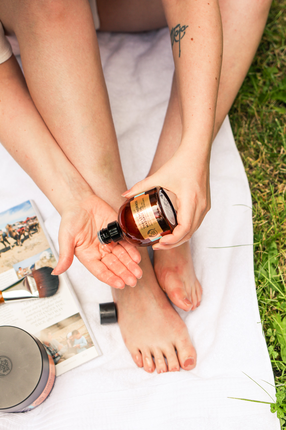 @findingfemme does a beach pamper day with some products from The Body Shop