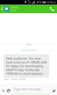 MTN Xmas Data Give Away..