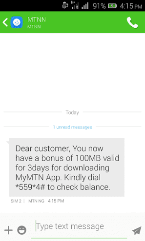 MTN Xmas Data Give Away.. 100mb Awoof Data Give Away To All MTN Customers - SEE MOR