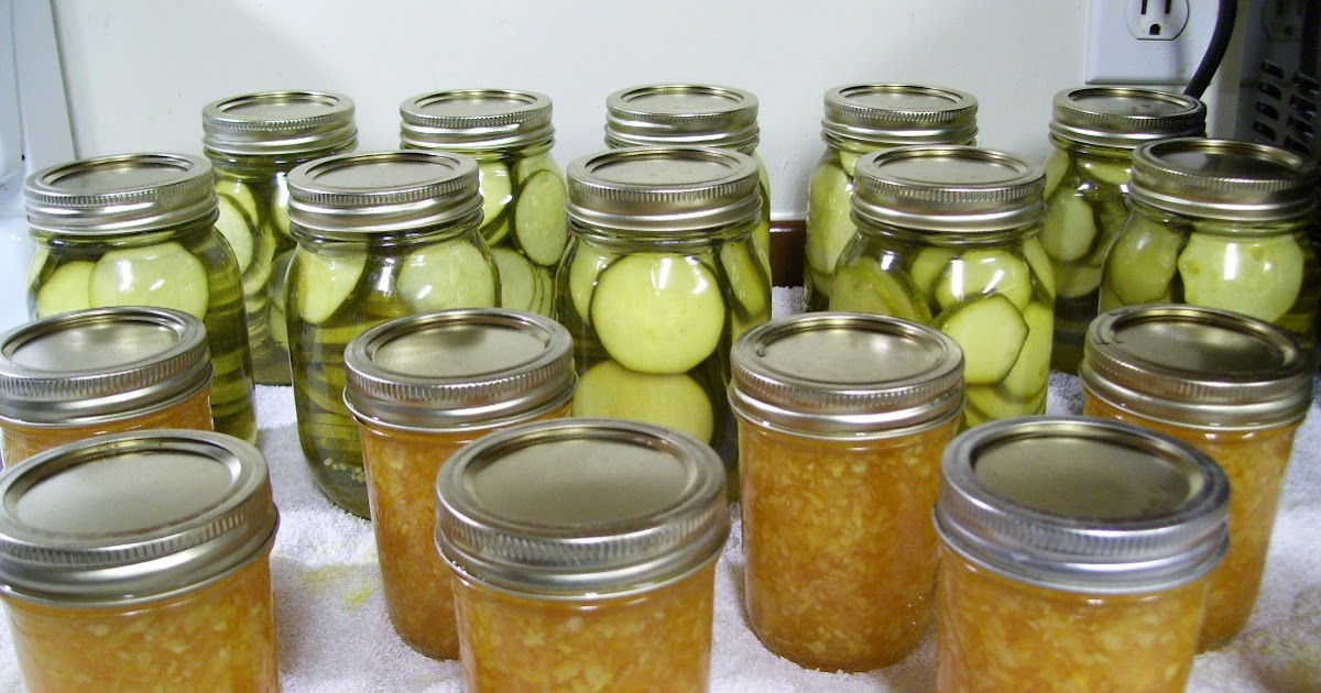 Zucchini Dill Pickles / Orange Zucchini Jam - Getting Off The Grid - Use What You Get