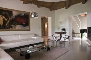 Beautiful white sofe for living room