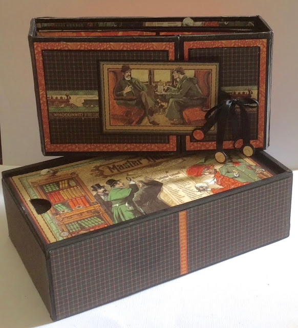 Master Detective Pencil Case and Mini Album Clare Charvill Graphic 45