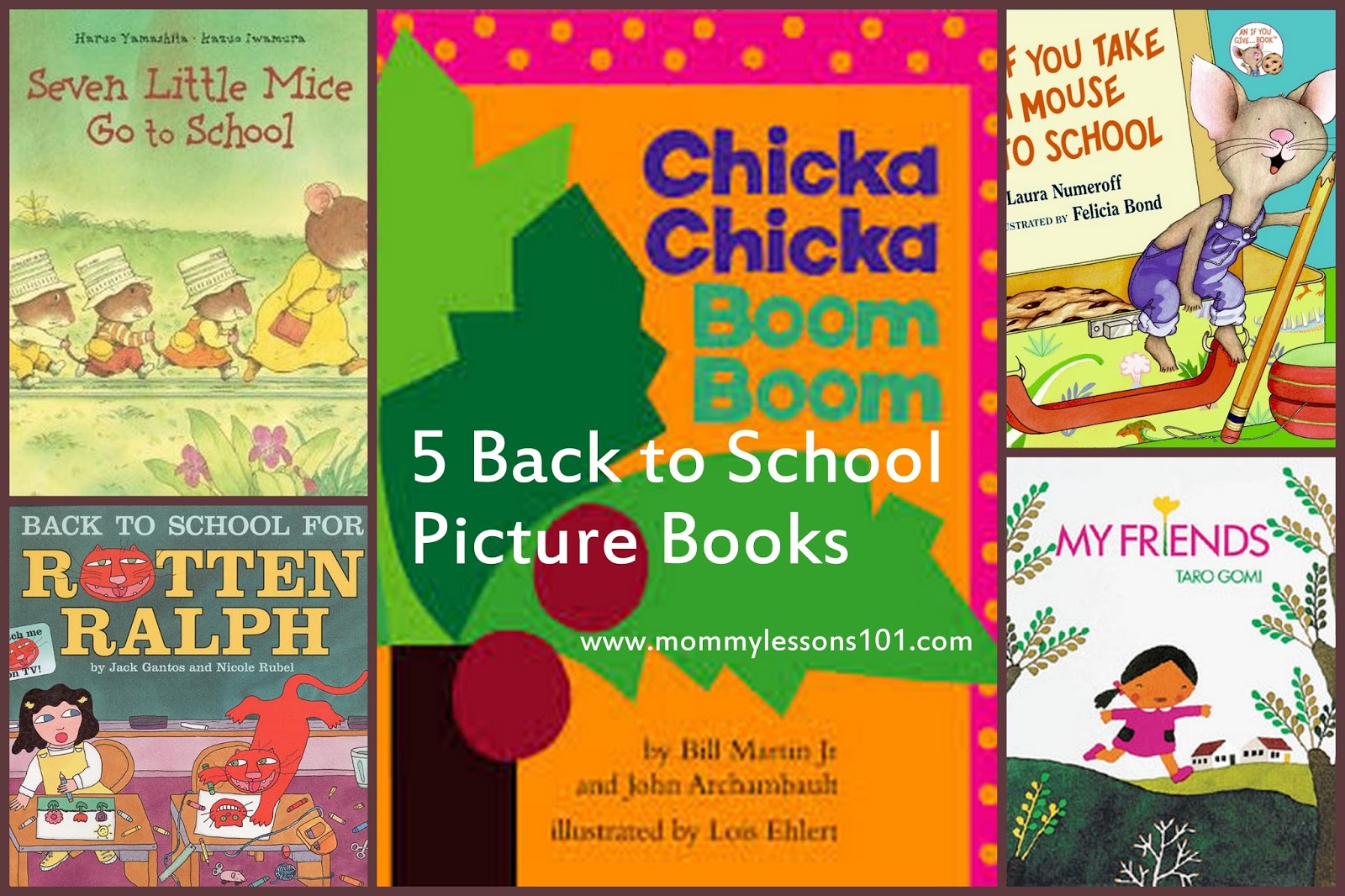 Back to School Picture Books, Songs, Snack, and Craft