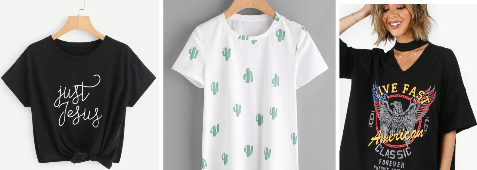 1077b83bdfc0c SHEIN Allover Cactus Print Tee - LINK HERE