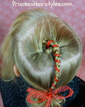 Candy Cane Ribbon Braid