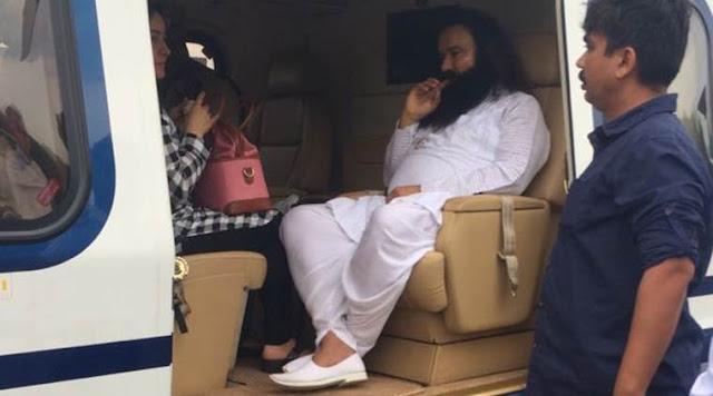 Dera Saccha Sauda chief Gurmeet Ram Rahim Singh , accused of dual Rape