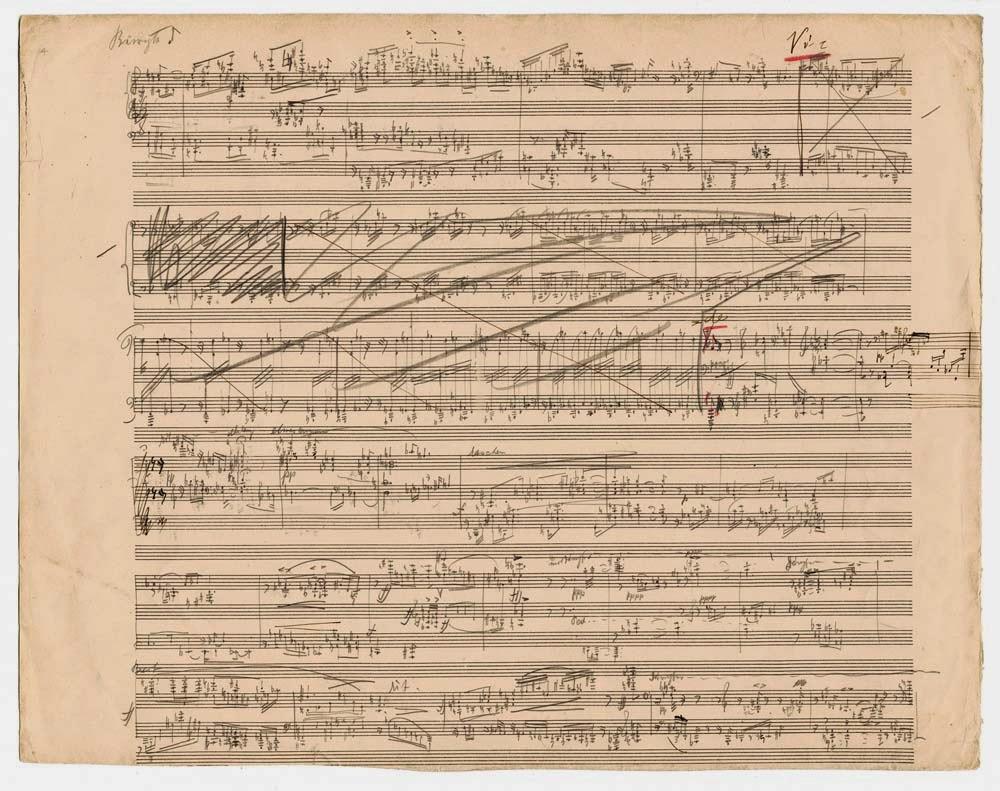 Arnold Schönberg, primer borrador de Tres piezas para piano, op.11 nº3 (1909)