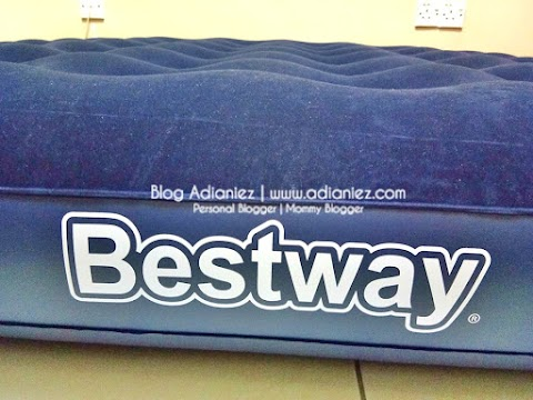Travel Essentials | Portable Inflatable Double Queen Air Bed Mattress with 2 Pillow Cases