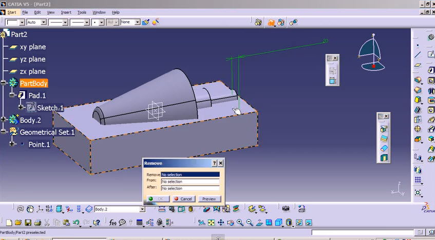 Quick Tip simple way mold design with CATIA V5  | Drawing
