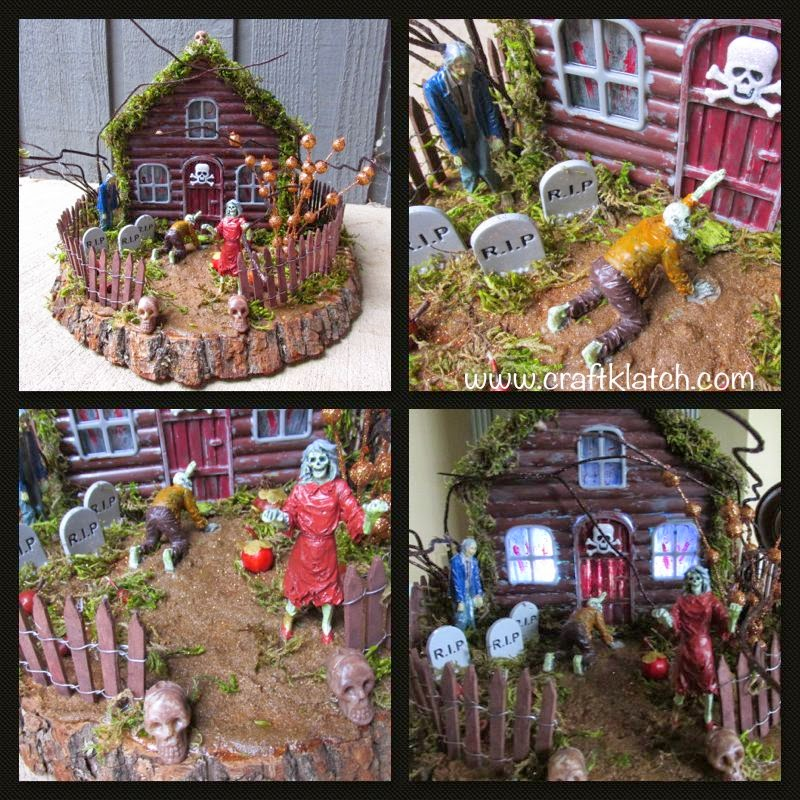 Craft Klatch Haunted Zombie House Diy Craft For Halloween