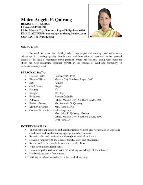 how to make resume for nurses