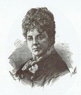 Grabado de Pilar Sinués incluido en su obra Morir sola, 1890