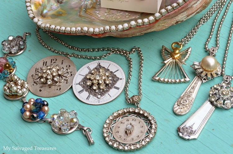 DIY repurposed jewelry creations silverware pendants