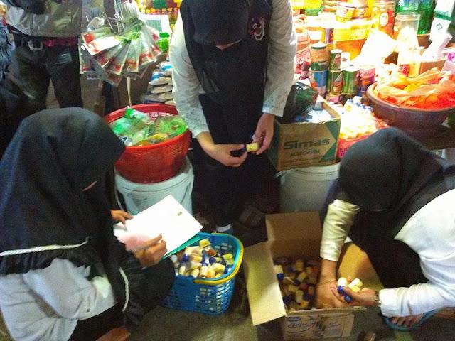 Ratusan Bahan Makanan yang Hanya Berizin P-IRT Disita