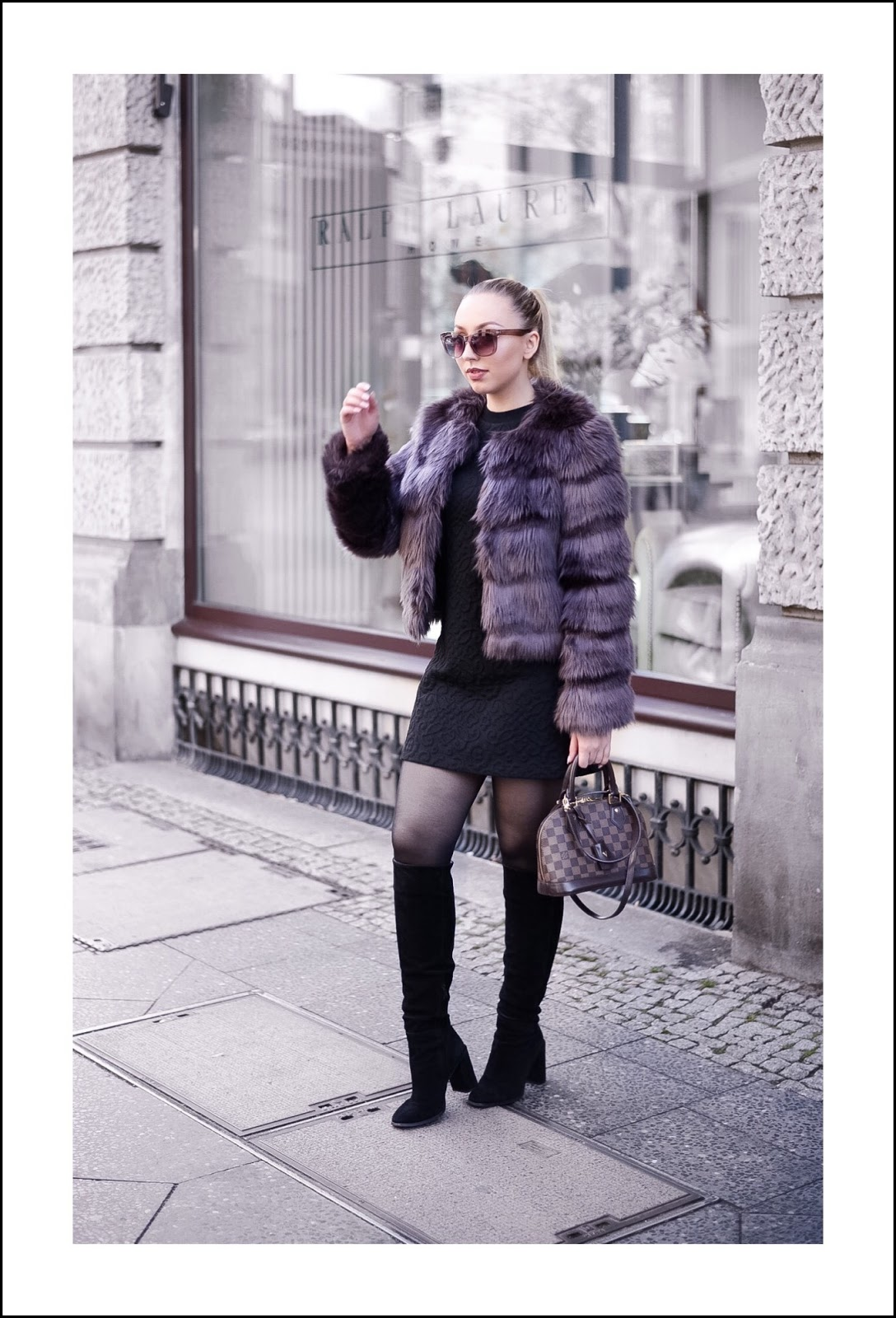 develop your own personal style_faux fur jacket_lv alma bb