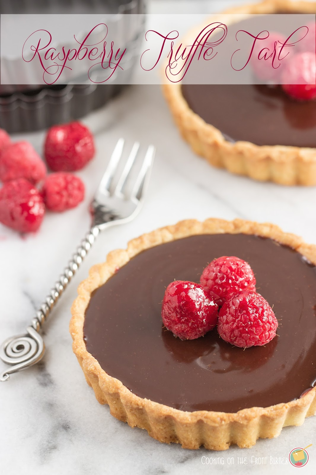 Raspberry Truffle Tart | Cooking on the Front Burner #chocolatetart #valentinesdessert