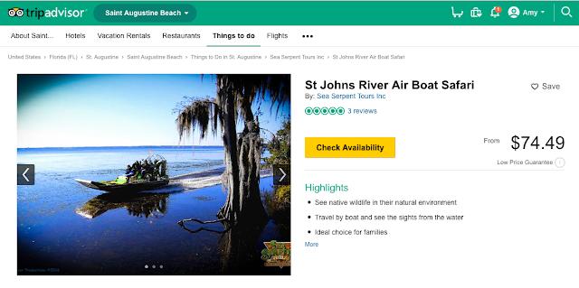 screen shot of TripAdvisor attraction booking