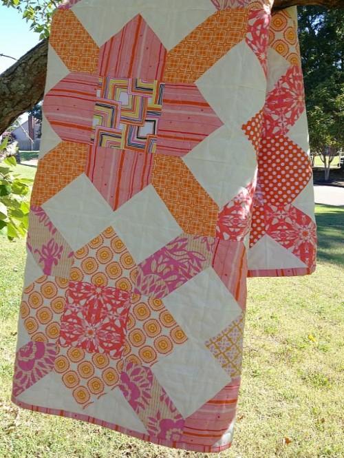 Purse String Block Quilt Tutorial