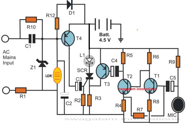 Darkness activated electronic candle circuit