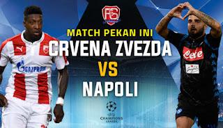 مشاهدة مباراة سرفينا زفيزدا ونابولي بث مباشر اليوم الثلاثاء 18-9-2018 Crvena Zvezda vs Napoli Live