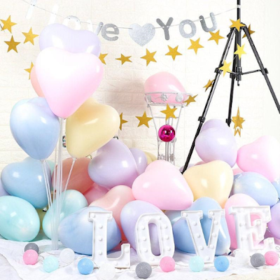 Ide Balon Surprise Dengan Balon Latex Hati Macaron