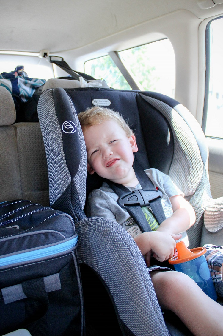 Taking a road trip with a baby and toddler doesn't have to be terrifying!  Click over to get some great tips!