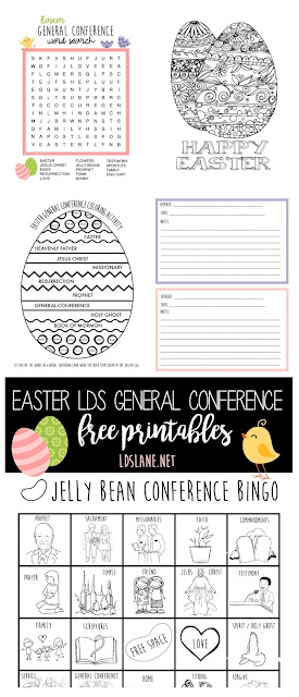 Easter LDS General Conference printables - ldslane.net