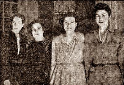 Las cuatro vencedoras del V Campeonato Femenino de Ajedrez de Catalunya 1942